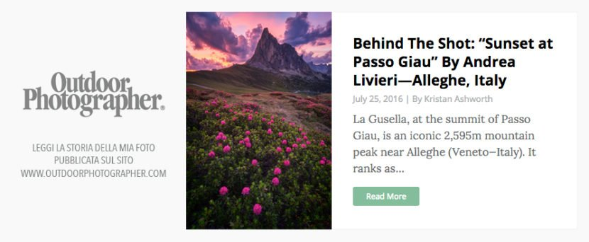 outdoor photographer andrea livieri passo giau