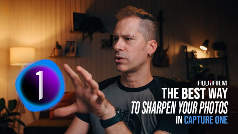 The BEST Way to Sharpen Your Photos in Capture One | FUJIFILM X Raw files